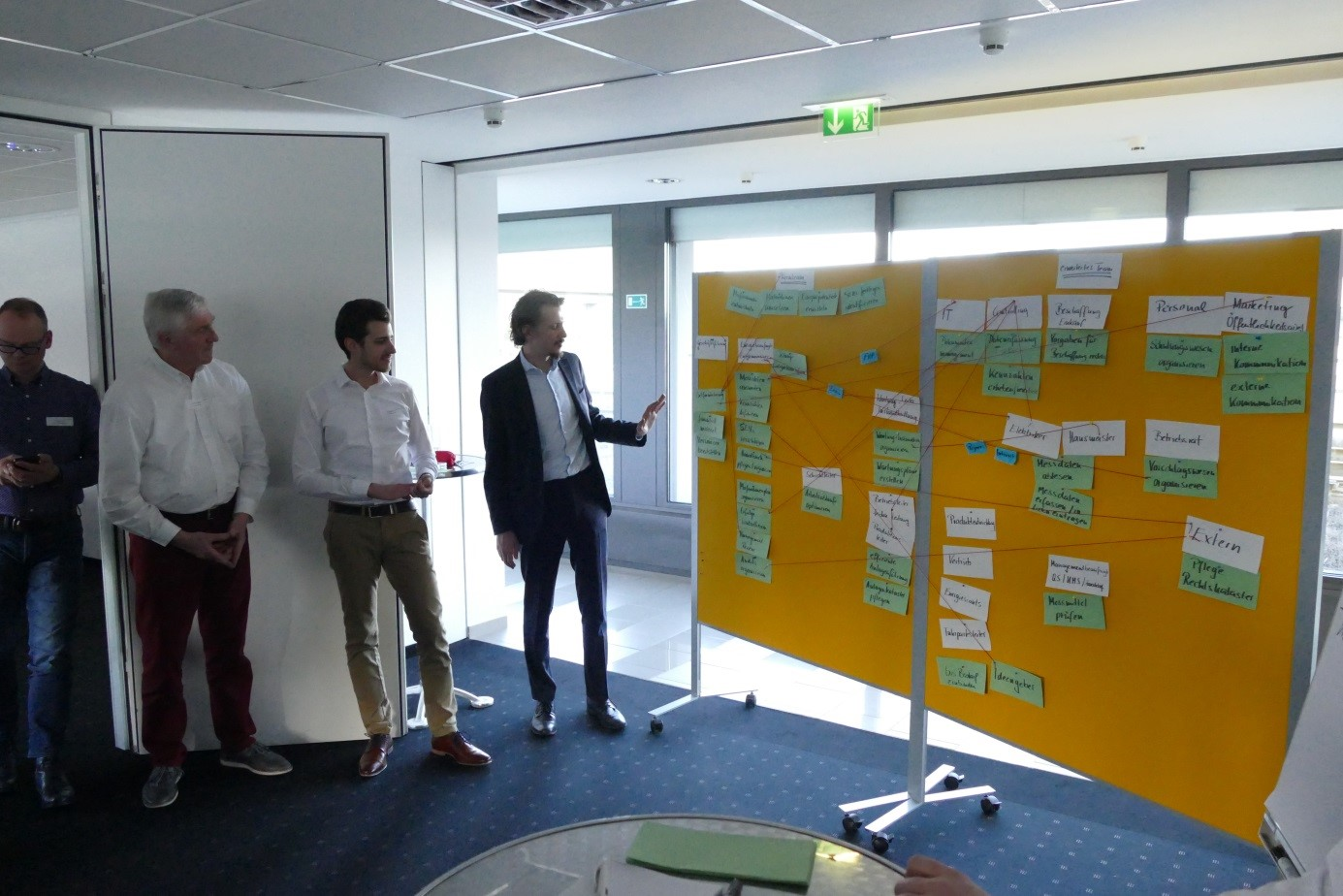 Communication plan of one group, result of the second Train the Trainer day